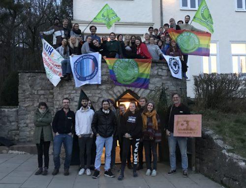Wir auf dem Vernetzungstreffen der Fridays for Future Hannover